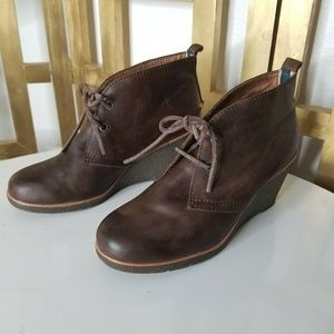 Sperry Top-Sider Women 7 Brown Leather Wedge Shoe